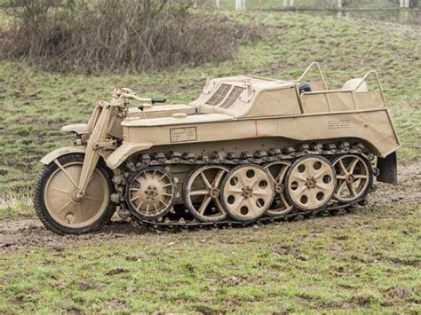 Word War German Tank Motorcycle Kettenkrad Is A Perfect