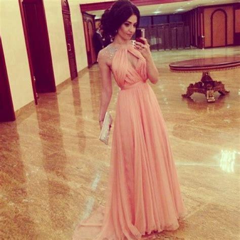 dress prom prom dress pink dress pearl triangle dress