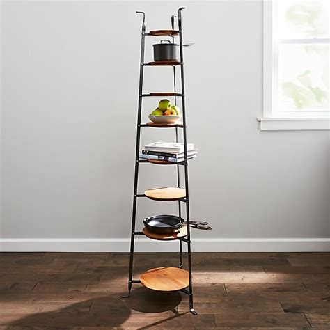 Standing Pot Rack by Enclume 174 Standing 8 Tier Pot Rack With Wood Trivets