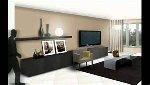 Deco Salon Moderne : salon moderne deco youtube ~ Teatrodelosmanantiales.com Idées de Décoration