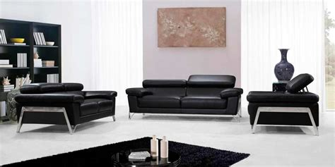 contemporary black leather sofa modern black leather sofa set vg724 leather sofas