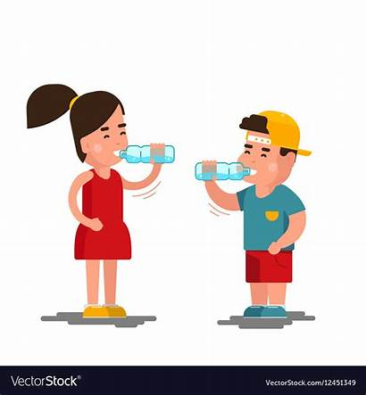 Drinking Water Boy Clipart Drinks Drink Cartoon