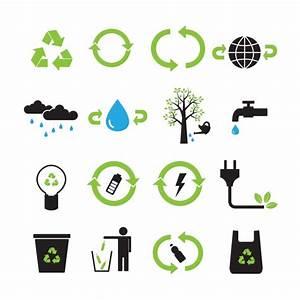 Colección de iconos de reciclaje   Descargar Vectores gratis
