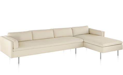 chaise herman miller bolster 3 seat sofa with chaise hivemodern com