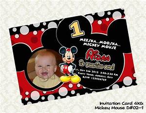 Avengers Invitation Design Mickey Mouse Invitation Mickey Mouse Photo Birthday Card