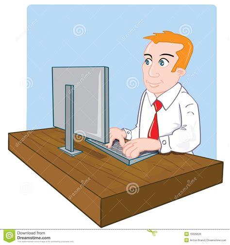 dessin de bureau employé de bureau de dessin animé à bureau image libre