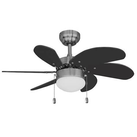 30 ceiling fan with light satin nickel 30 quot ceiling fan w light kit black blades
