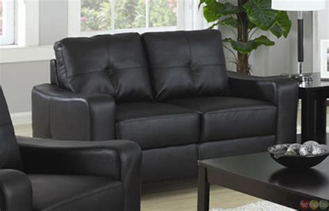 contemporary black leather sofa jasmine contemporary black bonded leather sofa and