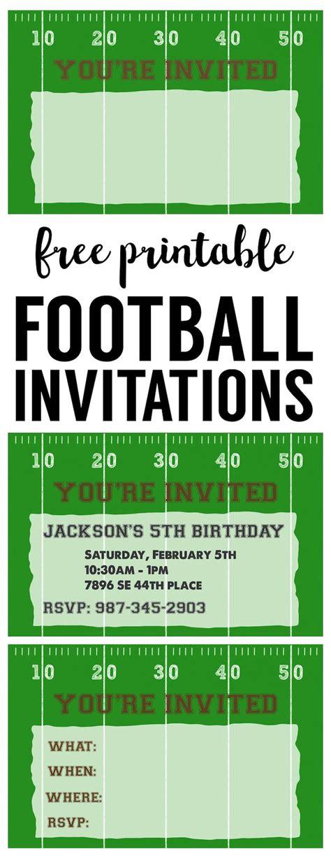 football party invitation template  printable