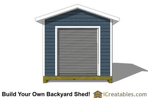 10 X 16 Gable Shed Plans by 10x16 Shed Plans With Garage Door Icreatables