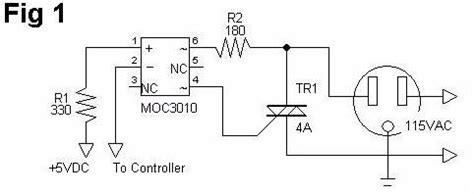 Microcontroller Using Optoisolator Triac With Mcu
