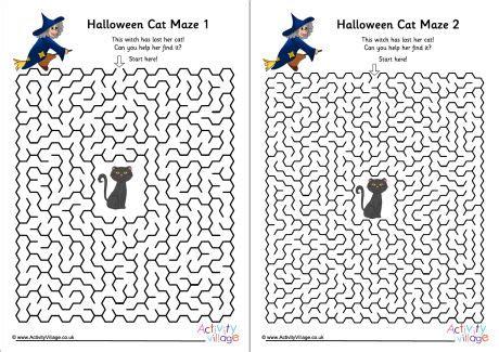 halloween cat mazes pack