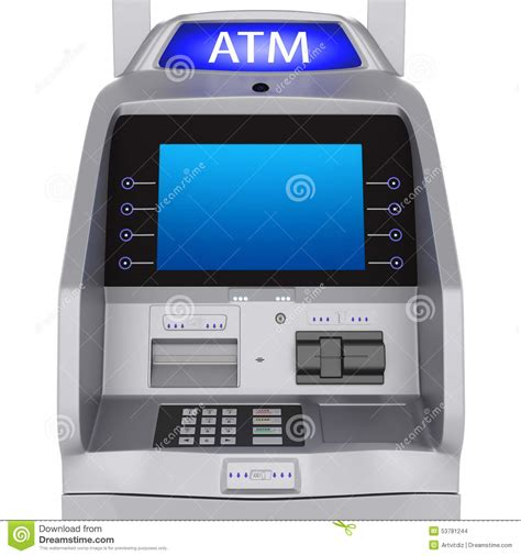 atm terminal stock illustration image