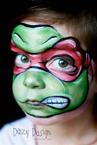 Ninja turtle schmink door Daizy Design face painting ...