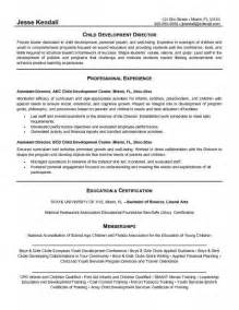 resume for child care assistant daycare director resume best resume exle