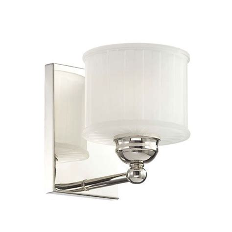 Polished Nickel Bathroom Lighting Fixtures by 1730 Series Polished Nickel One Light Bath Fixture With