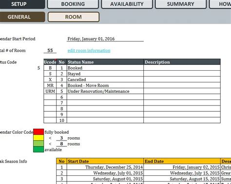 Hotel Reservation System Template by Hotel Reservation System My Excel Templates