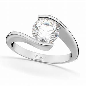 tension set solitaire diamond engagement ring 14k white With tension wedding rings