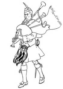 scottish bagpiper coloring page  printable coloring
