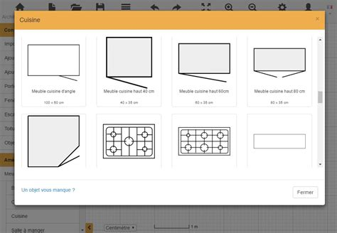 plan de cuisine en u plan de cuisine gratuit logiciel archifacile