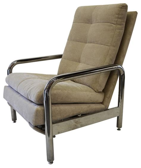 consigned vintage chrome recliner by milo baughman for