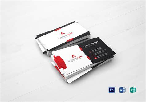 corporate business card design template  word psd