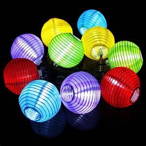 Lampion Lichterkette Solar : solar lampion lichterkette mit farbwahl ~ Watch28wear.com Haus und Dekorationen