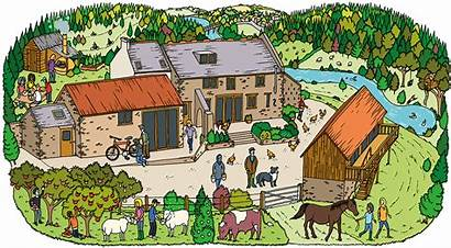 Farm Jamie Monmouth Illustration Farmer Farms Wife