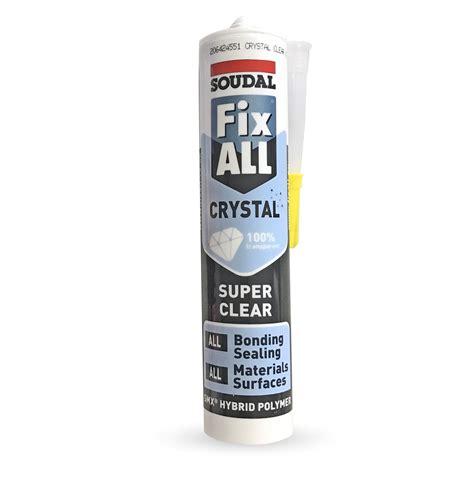 soudal fix all soudal fix all cyrstal clear plastic building