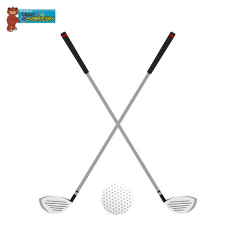 Golf Club Clipart Clipart Embroidery Passbook Mall Instant