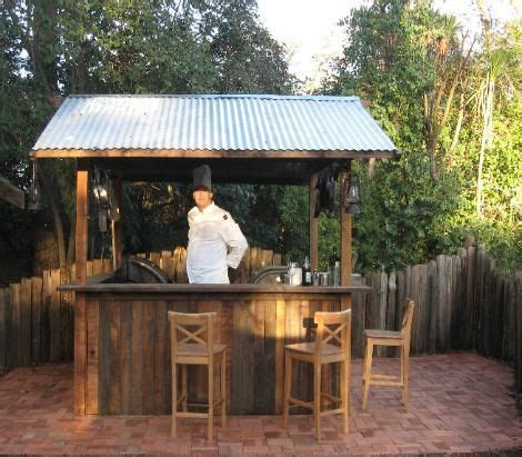 backyard saloon outdoor bar plans with roof search bar ideas