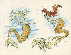 Flowers in her hair | The little mermaid: Concept art