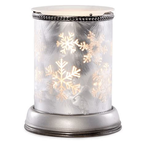 scentsy silver frost candle warmer perfect  holiday season