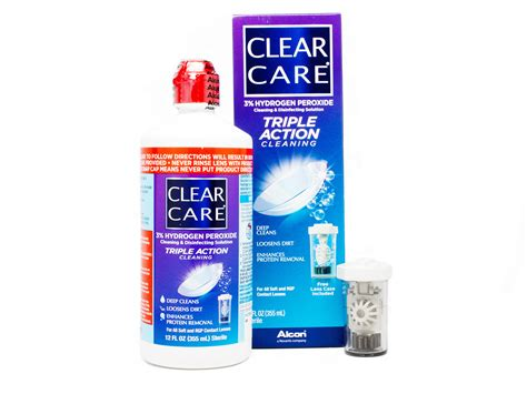 care and clean clear care triple action cleaning solution 12oz lensdirect