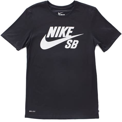 nike sb logo t shirt black black white