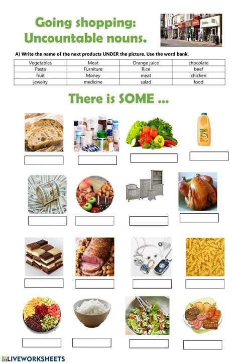 discover  grocery store worksheets worksheet template