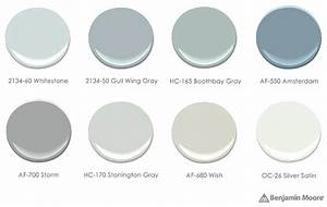 Benjamin Moore Storm Birch Paint Palette With Silver Satin