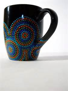 Hand Painted Black Coffee Mug