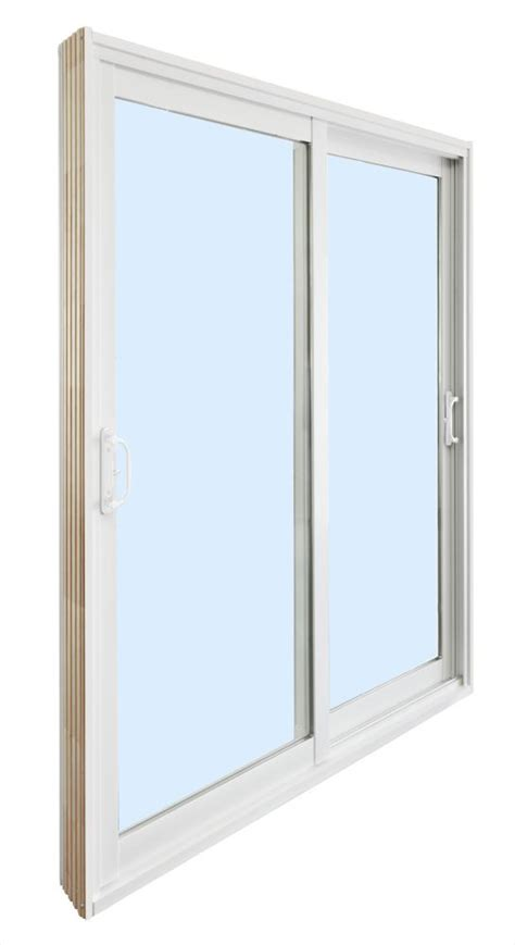 sliding patio door 15 lite white flat