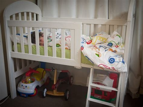 Transform Your Old Crib Into A Loft Toddler Bed