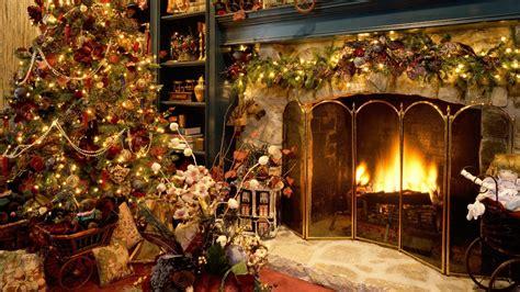 christmas fireplace wallpaper wallpapers