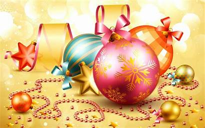 Christmas Desktop 3d Merry Holiday Ornaments Background