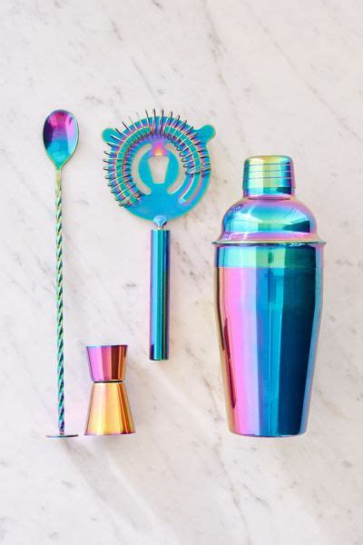 oil slick bar cocktail shaker set urban outfitters