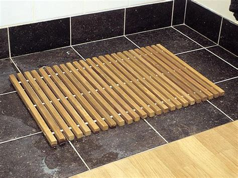 tapis de sortie de tapis salle de bain bois