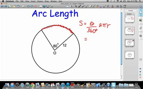 Area Of A Sector And Arc Length Youtube