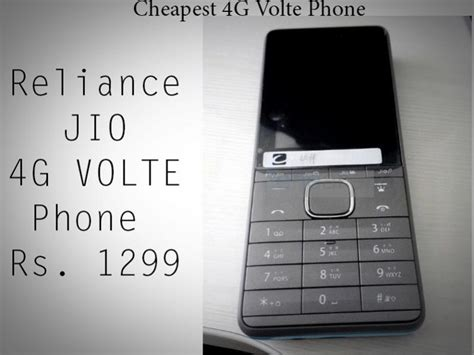 jio cheapest 4g volte phone look candytech