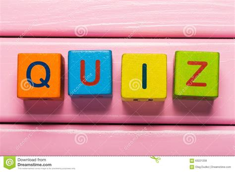 Web Site Tlet Quiz Stock Photo Image 63221258