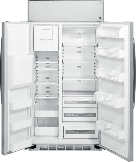 psbyshss ge profile series  built  stainless side  side refrigerator stainless steel