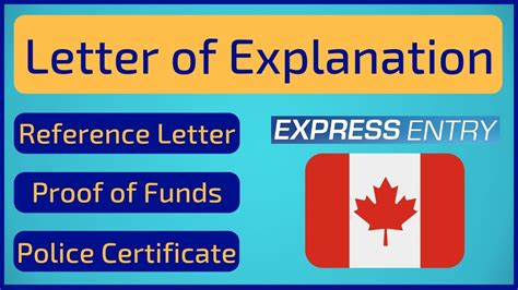 letter  explanation express entry canada youtube