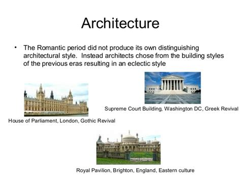 Romantik Epoche Architektur by In The Era